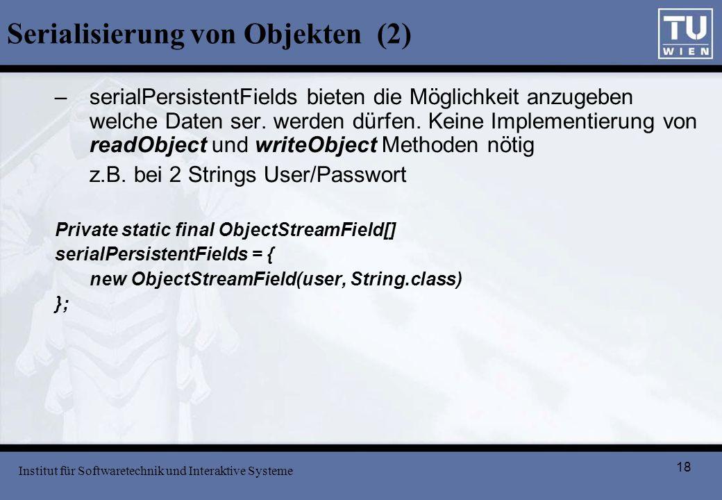 Serialisierung von Objekten (2)