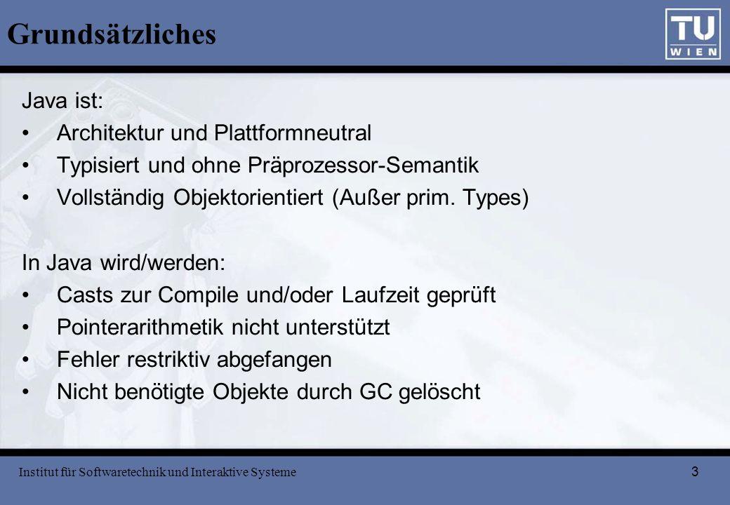Grundsätzliches Java ist: Architektur und Plattformneutral