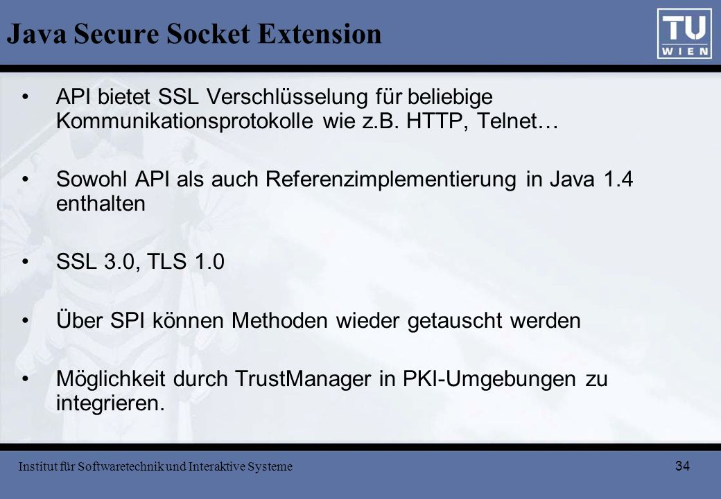 Java Secure Socket Extension