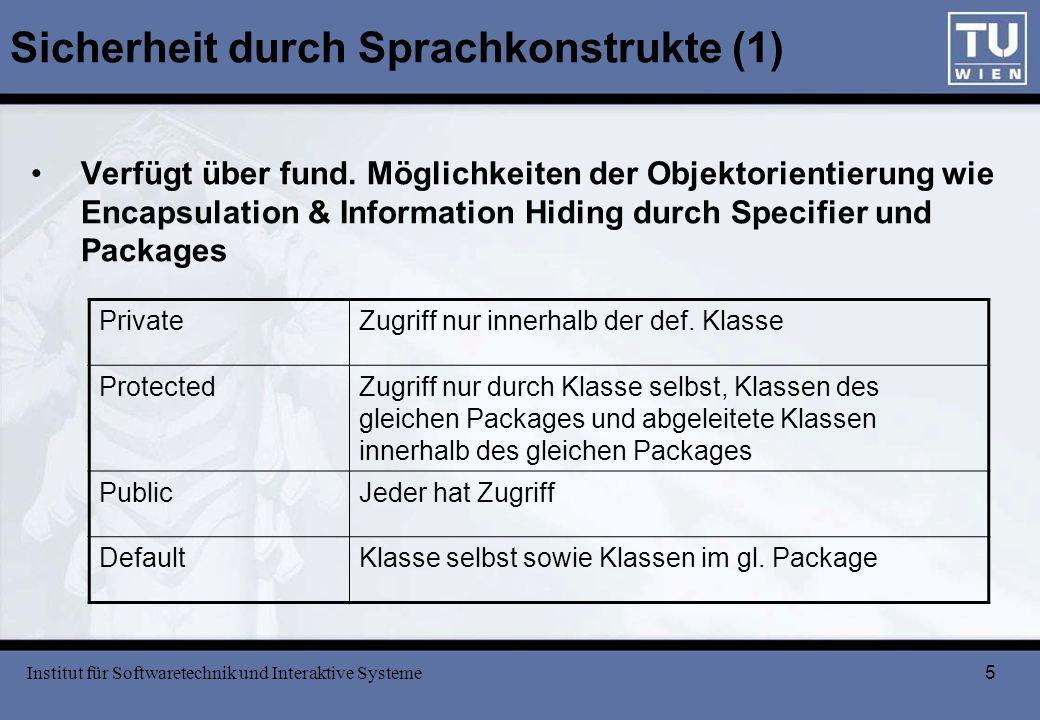 Sicherheit durch Sprachkonstrukte (1)