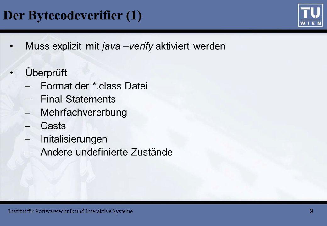 Der Bytecodeverifier (1)