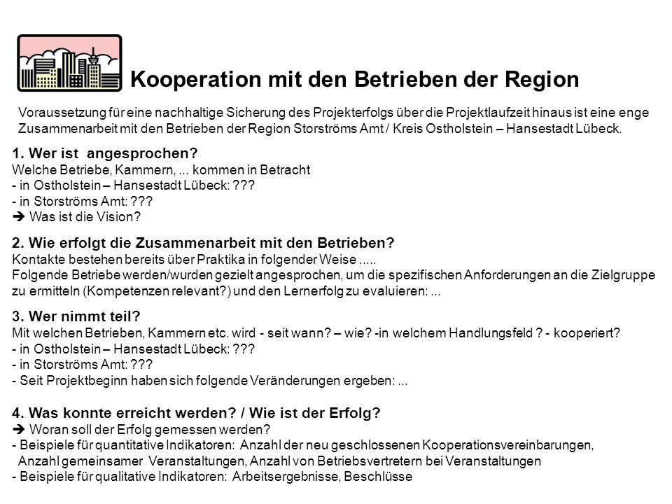 Kooperation mit den Betrieben der Region