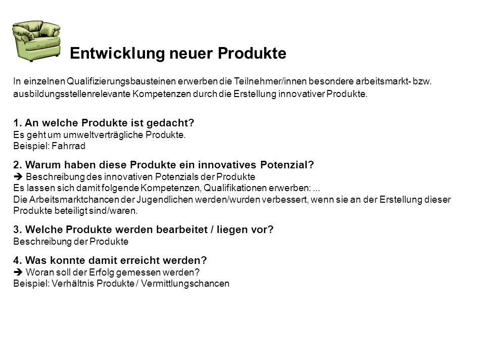 Entwicklung neuer Produkte