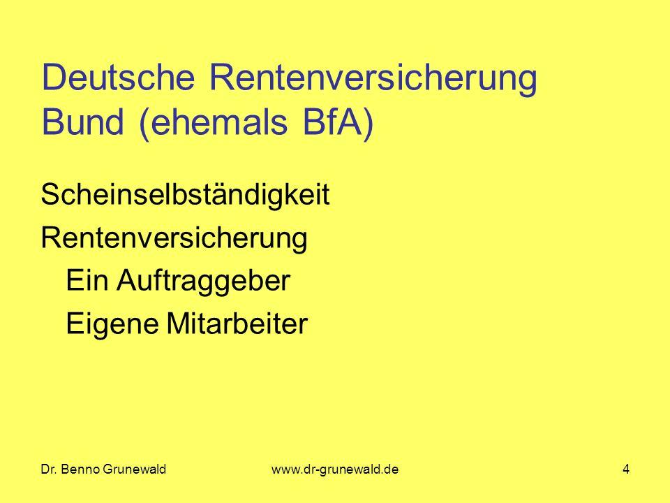 Deutsche Rentenversicherung Bund (ehemals BfA)