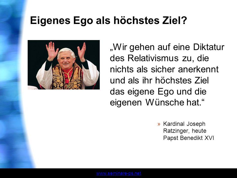 Eigenes Ego als höchstes Ziel
