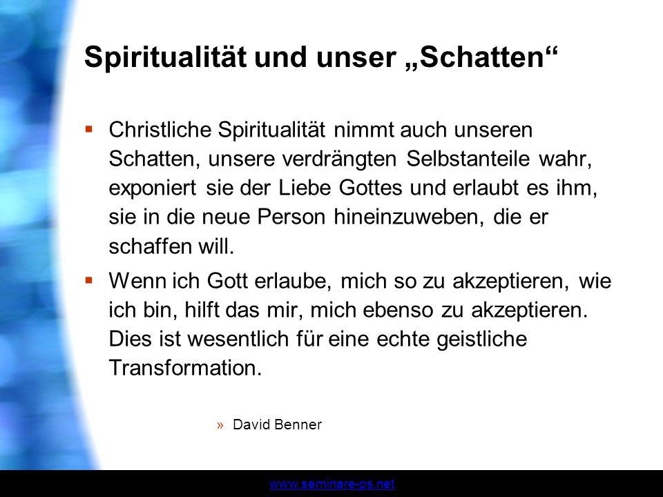 """Spiritualität und unser """"Schatten"""