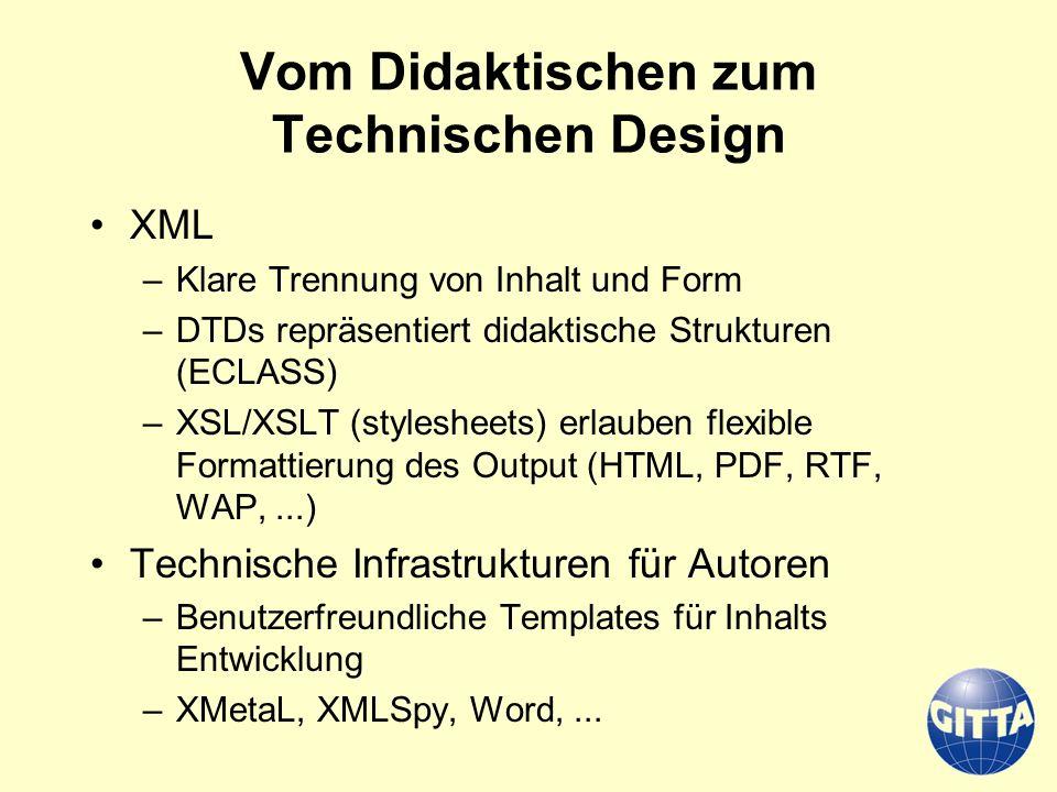 Vom Didaktischen zum Technischen Design
