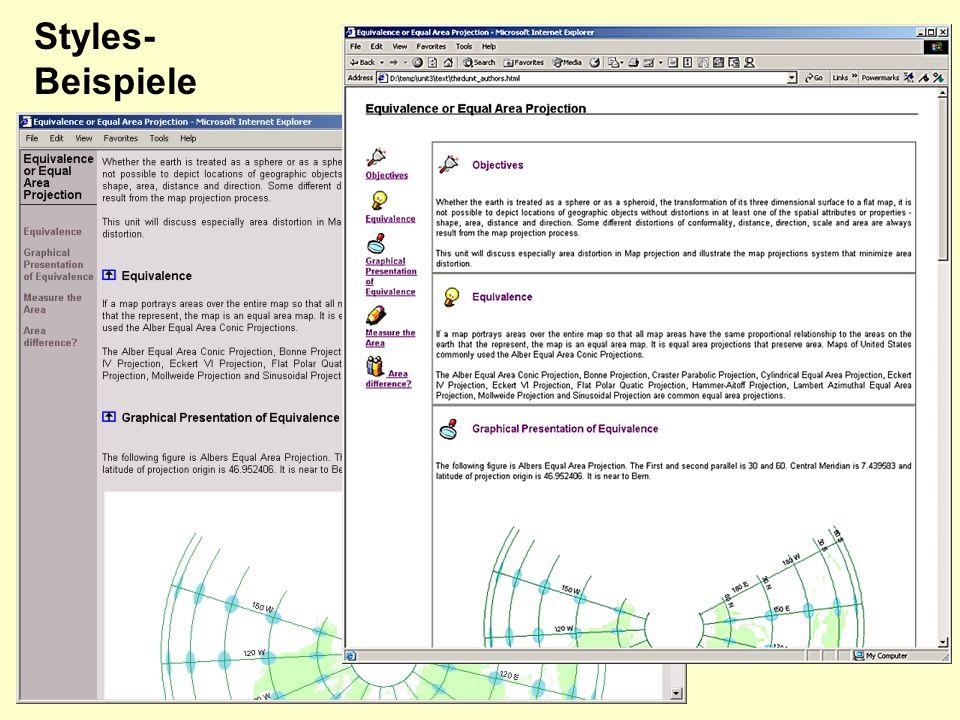 Styles-Beispiele Design