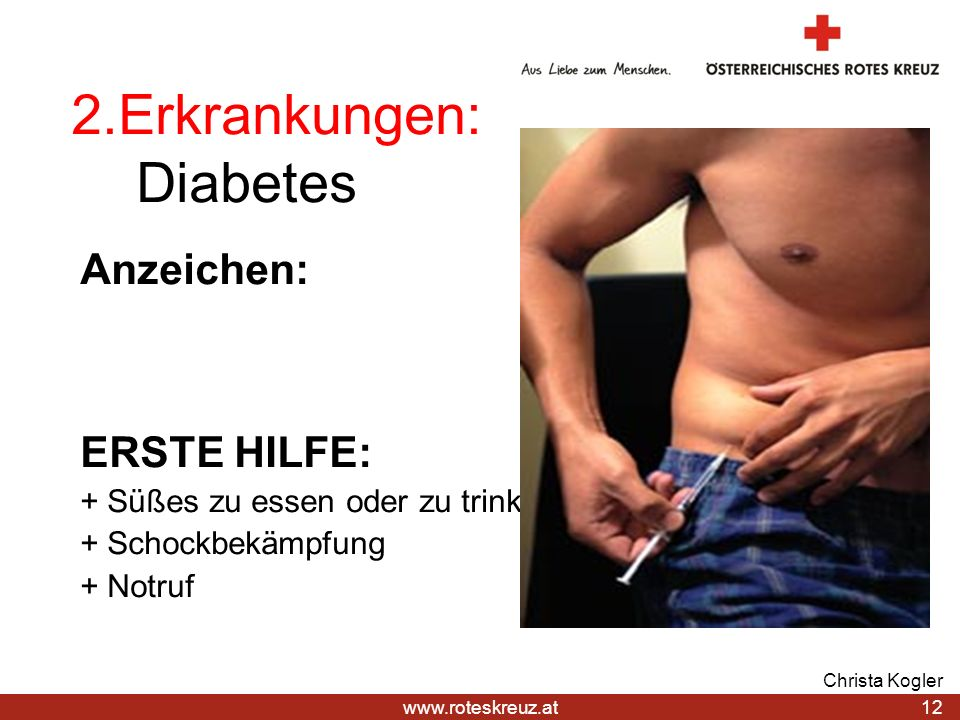 2.Erkrankungen: Diabetes