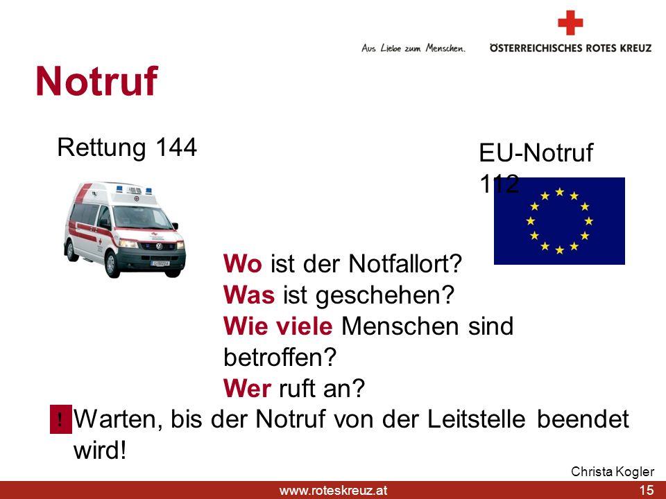 Notruf Rettung 144 EU-Notruf 112