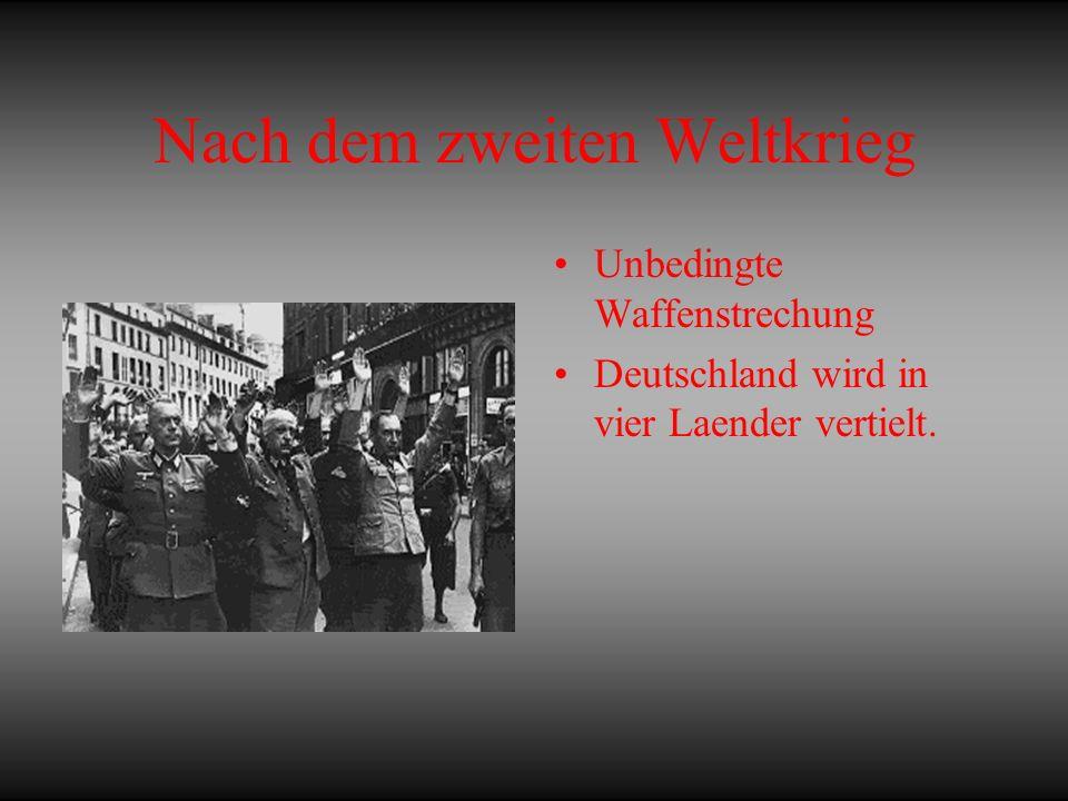 Nach dem zweiten Weltkrieg