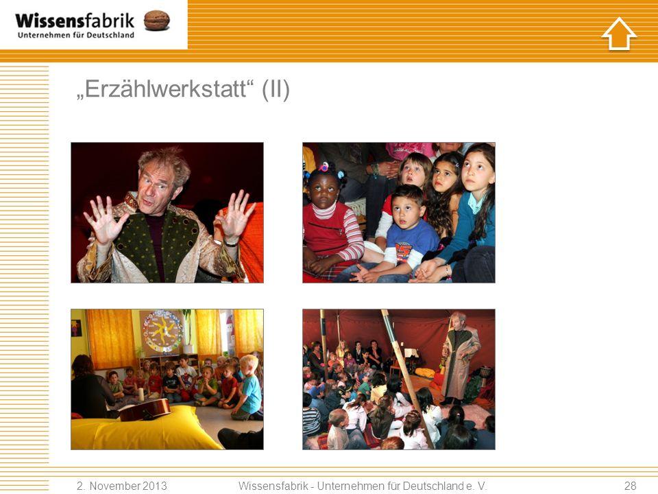 """""""Erzählwerkstatt (II)"""
