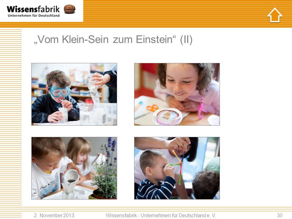 """""""Vom Klein-Sein zum Einstein (II)"""