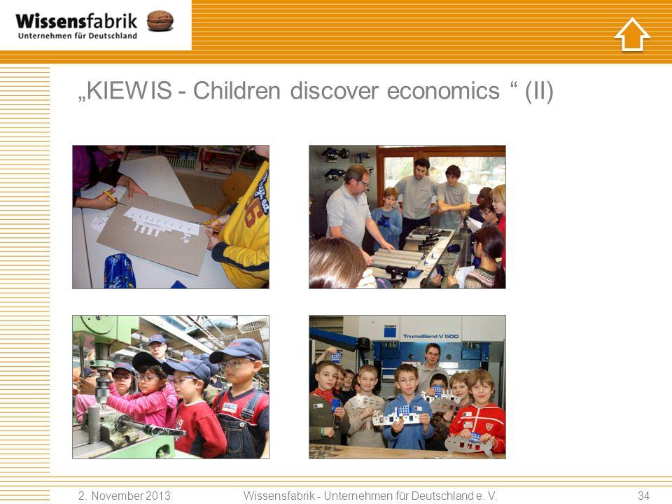 """KIEWIS - Children discover economics (II)"