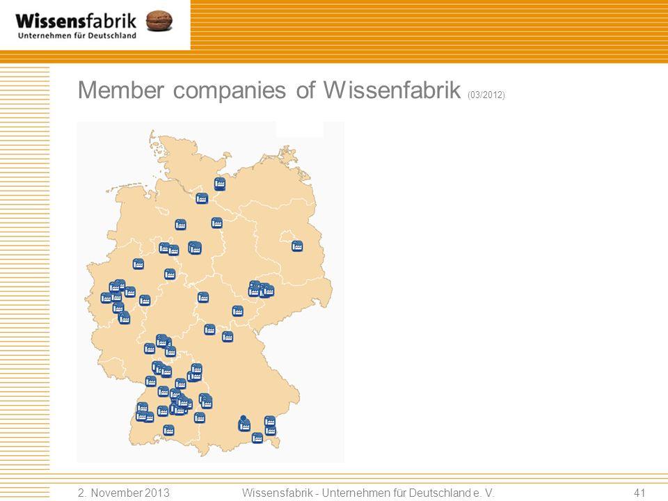 Member companies of Wissenfabrik (03/2012)