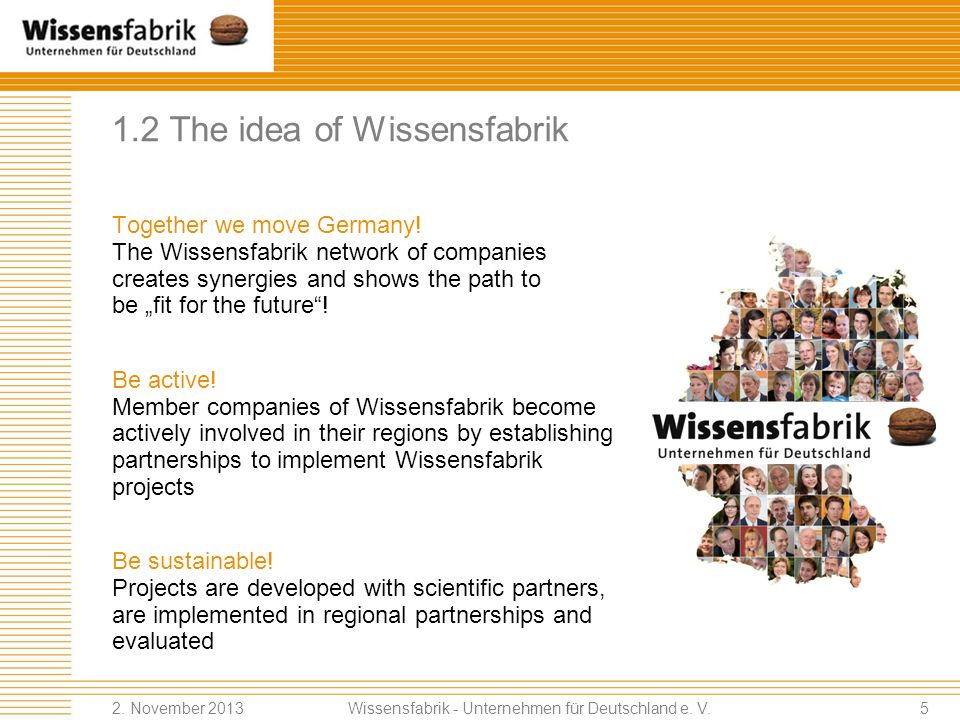 1.2 The idea of Wissensfabrik
