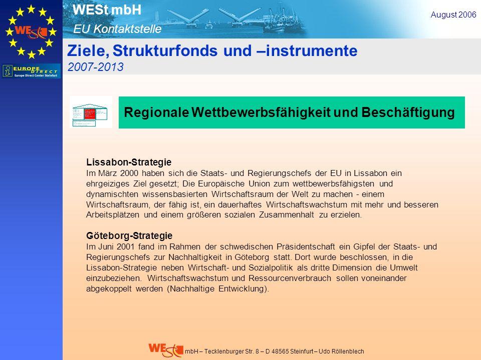 Ziele, Strukturfonds und –instrumente