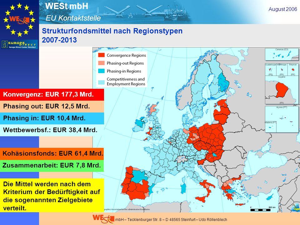 Strukturfondsmittel nach Regionstypen 2007-2013