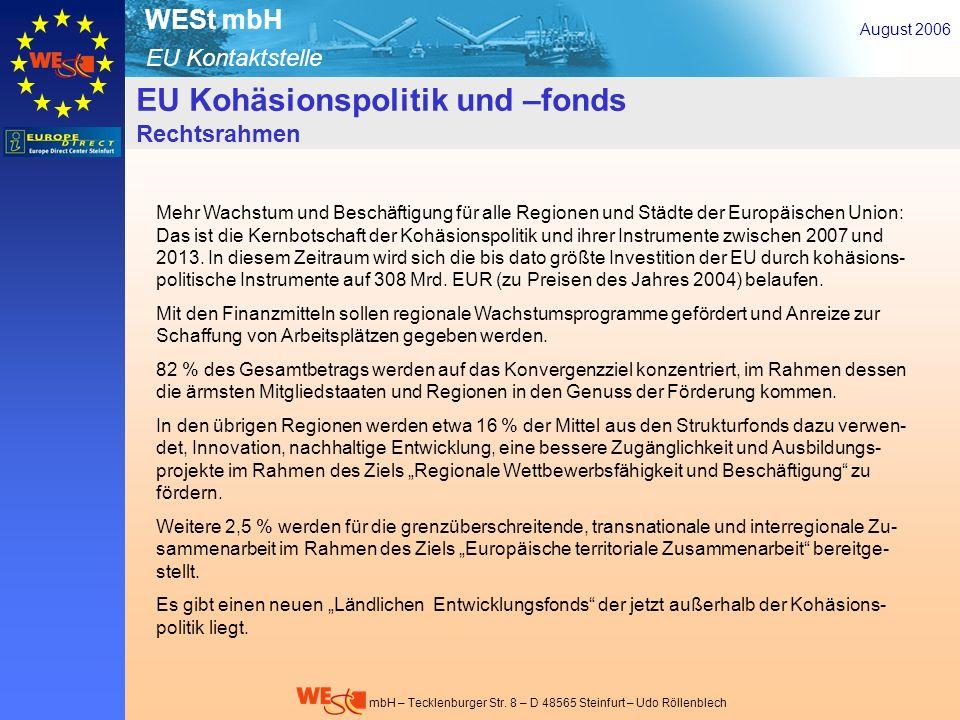 EU-Kohäsionspolitik- u. –fonds – Rechtsrahmen 1