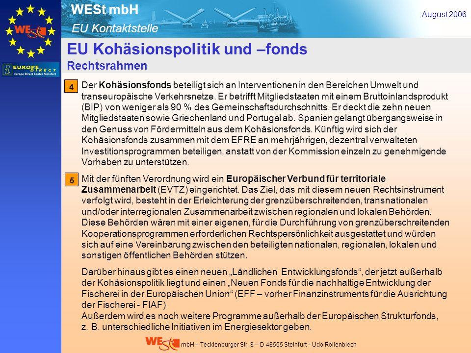 EU-Kohäsionspolitik- u. –fonds – Rechtsrahmen 3