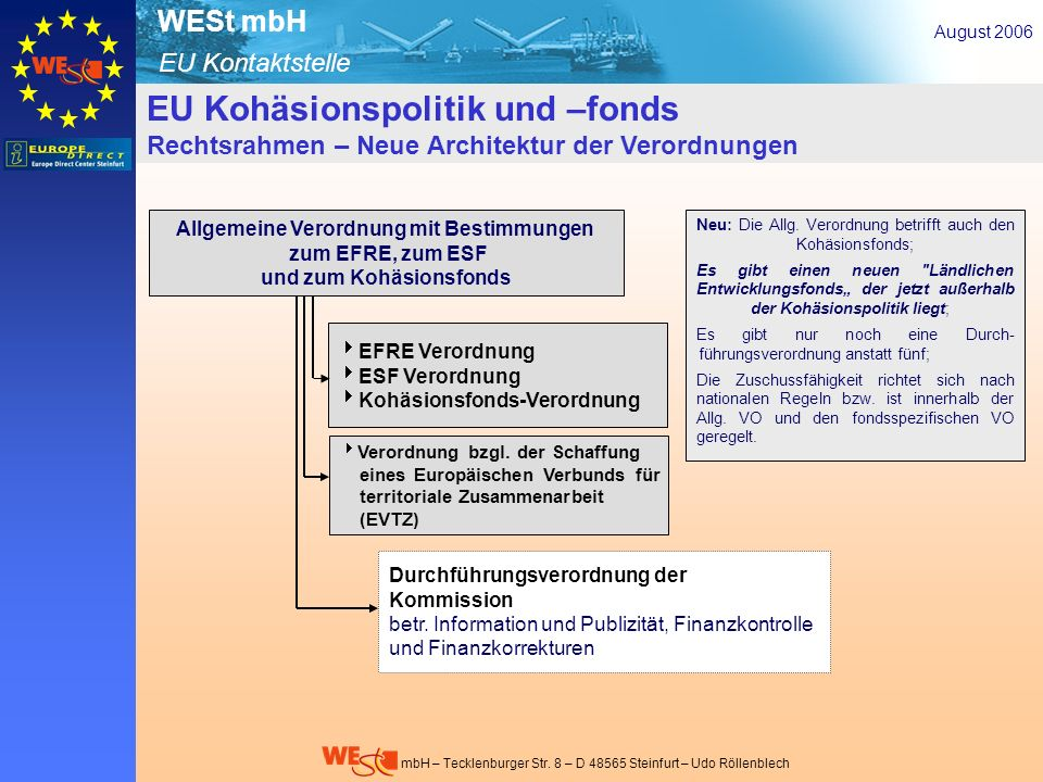 Allgemeine Verordnung mit Bestimmungen und zum Kohäsionsfonds