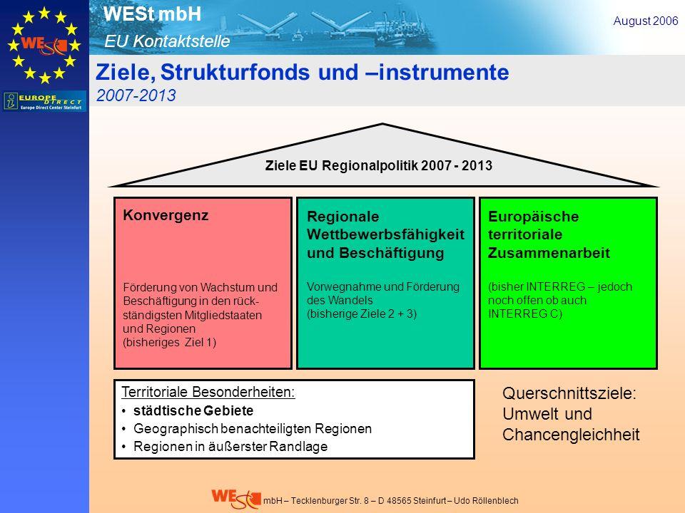 Ziele, Strukturfonds und –instrumente 2007-2013