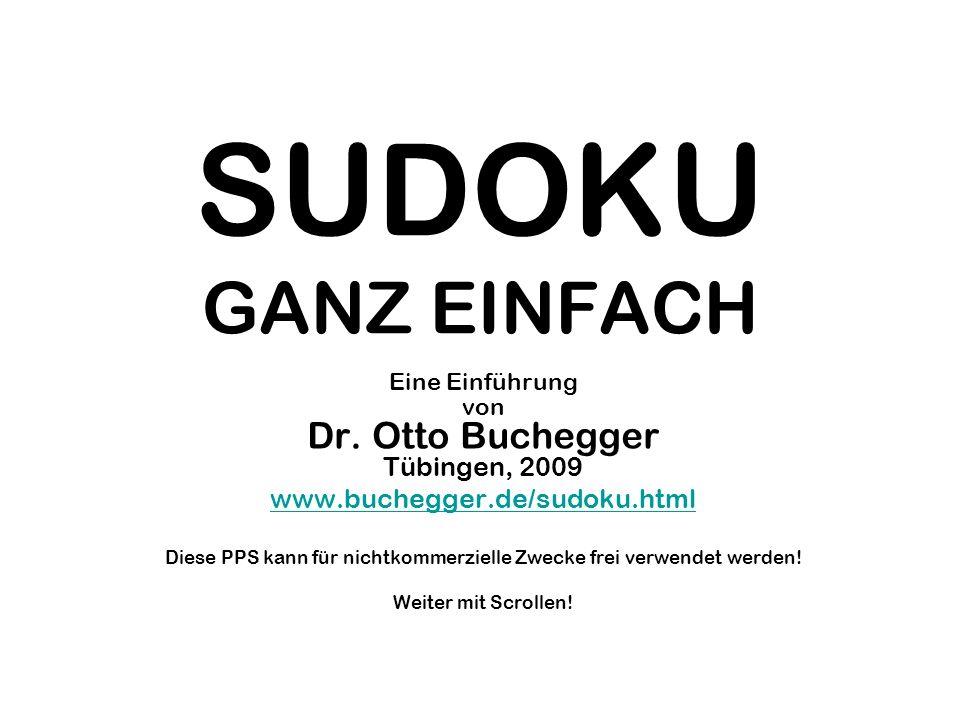 SUDOKU GANZ EINFACH www.buchegger.de/sudoku.html
