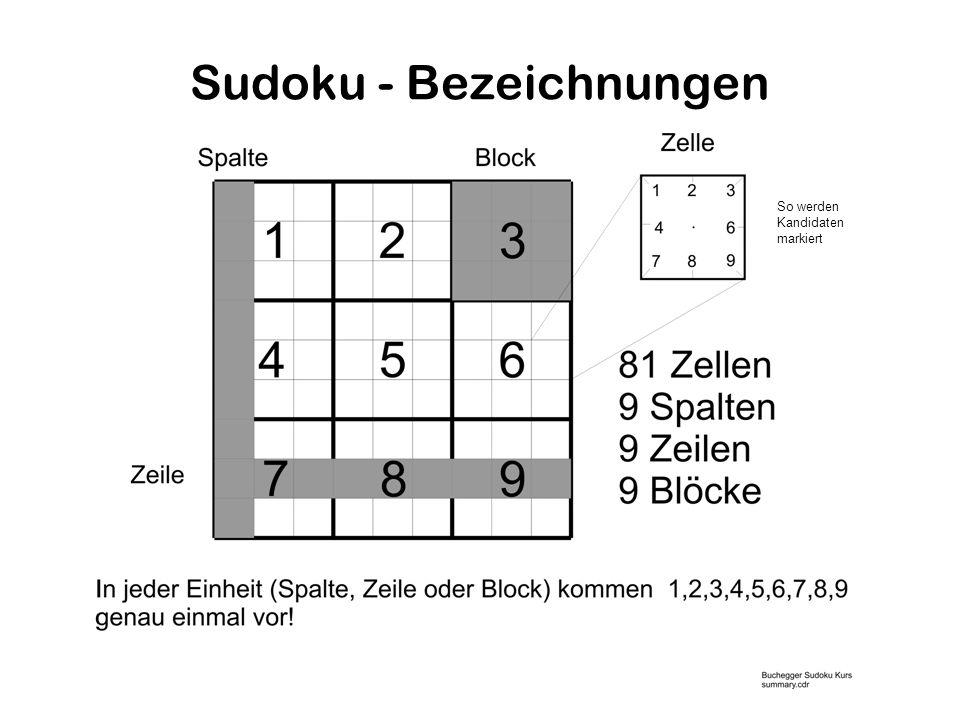 Sudoku - Bezeichnungen