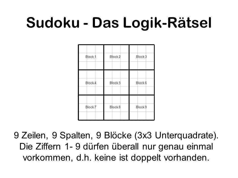 Sudoku - Das Logik-Rätsel
