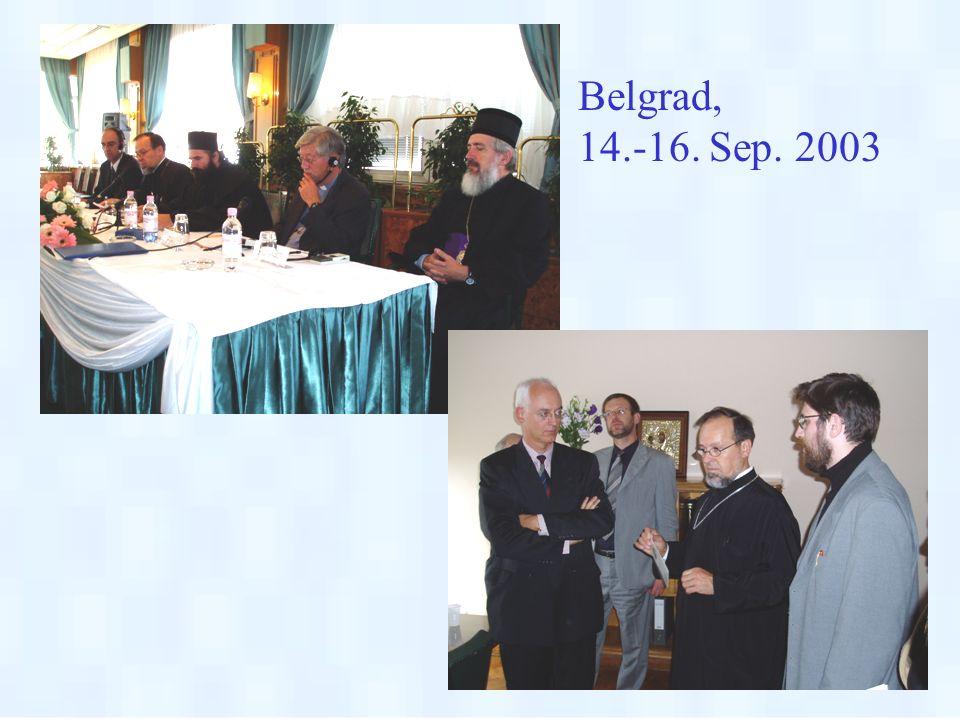 Belgrad, 14.-16. Sep. 2003.