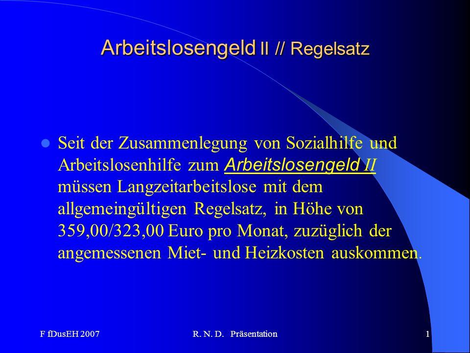 Arbeitslosengeld II // Regelsatz