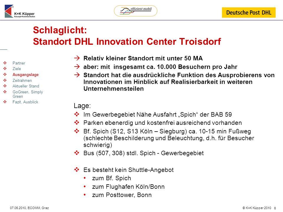 Schlaglicht: Standort DHL Innovation Center Troisdorf