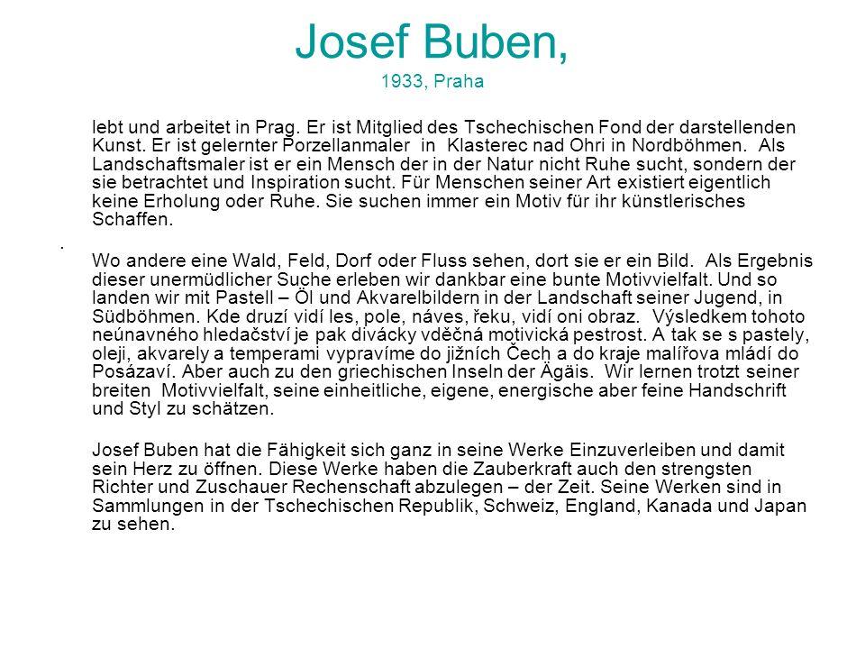 Josef Buben, 1933, Praha