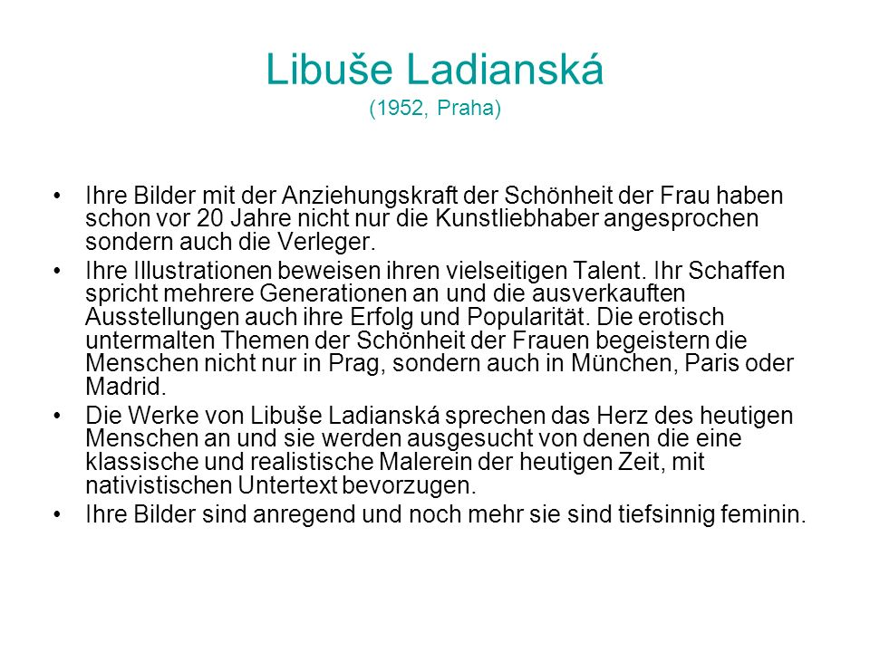 Libuše Ladianská (1952, Praha)