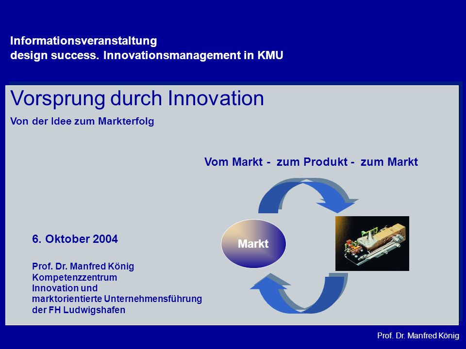 Vorsprung durch Innovation