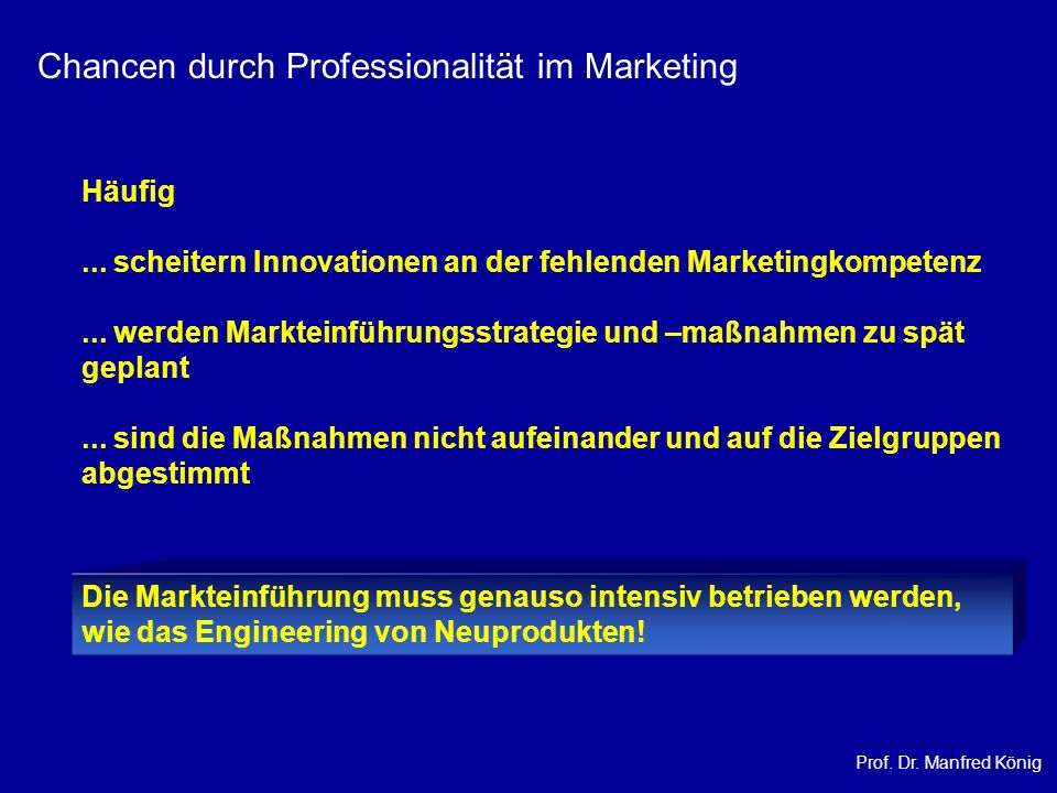 Chancen durch Professionalität im Marketing