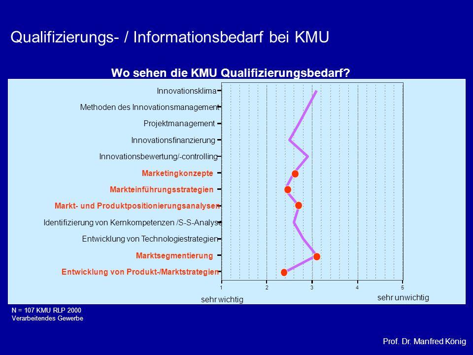 Qualifizierungs- / Informationsbedarf bei KMU