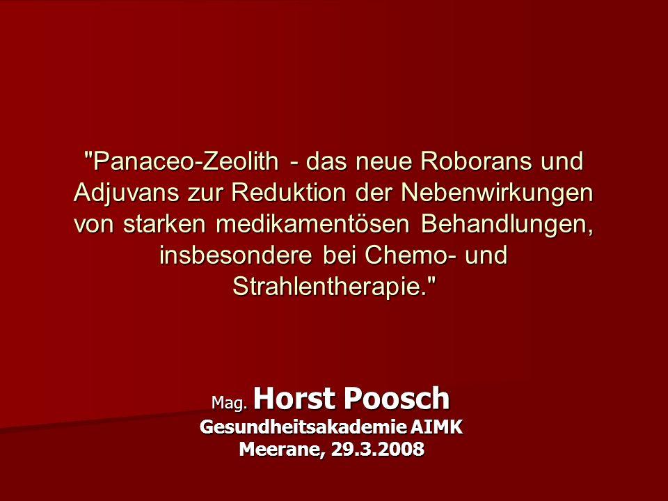 Mag. Horst Poosch Gesundheitsakademie AIMK Meerane, 29.3.2008
