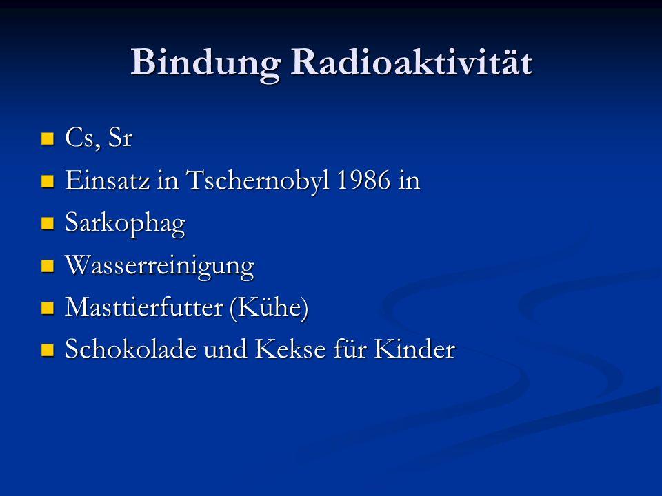 Bindung Radioaktivität