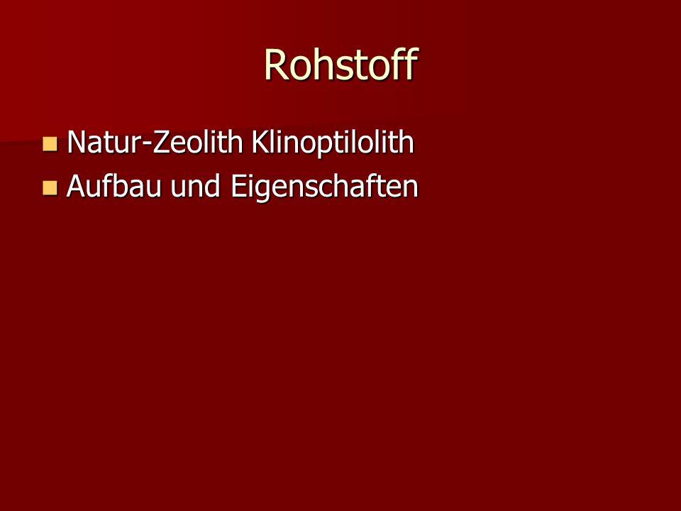 Rohstoff Natur-Zeolith Klinoptilolith Aufbau und Eigenschaften
