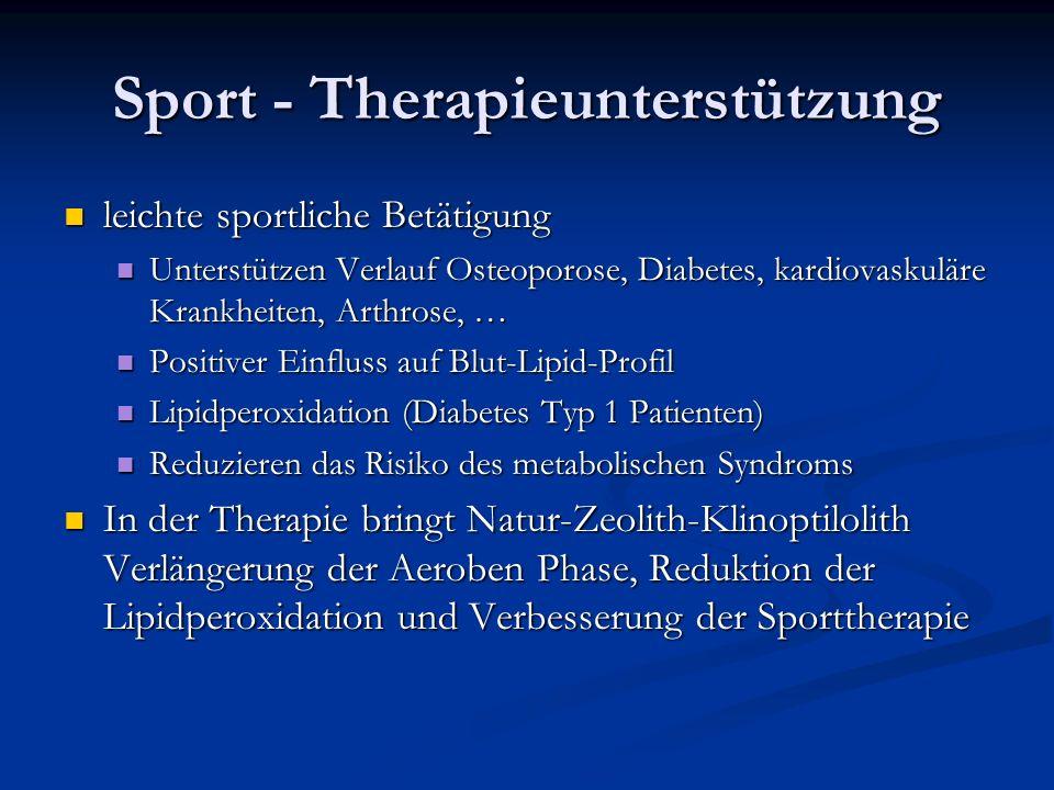 Sport - Therapieunterstützung