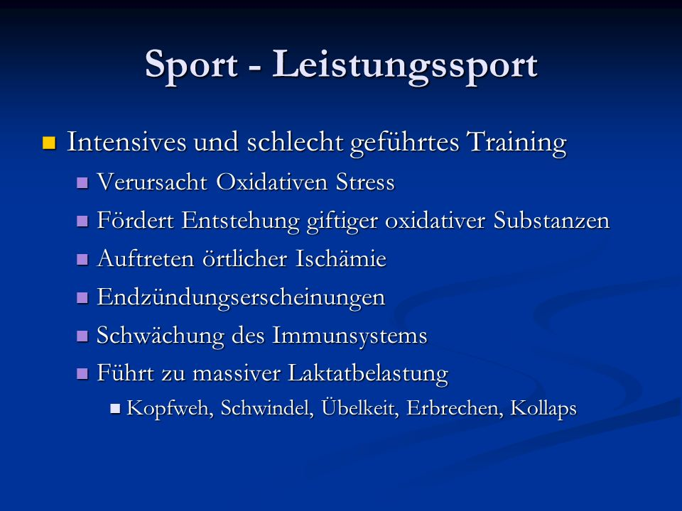 Sport - Leistungssport