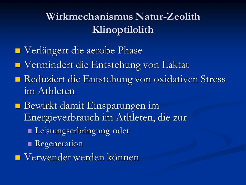 Wirkmechanismus Natur-Zeolith Klinoptilolith