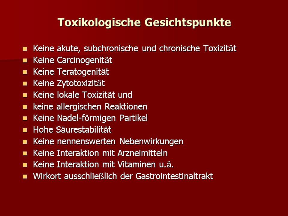 Toxikologische Gesichtspunkte