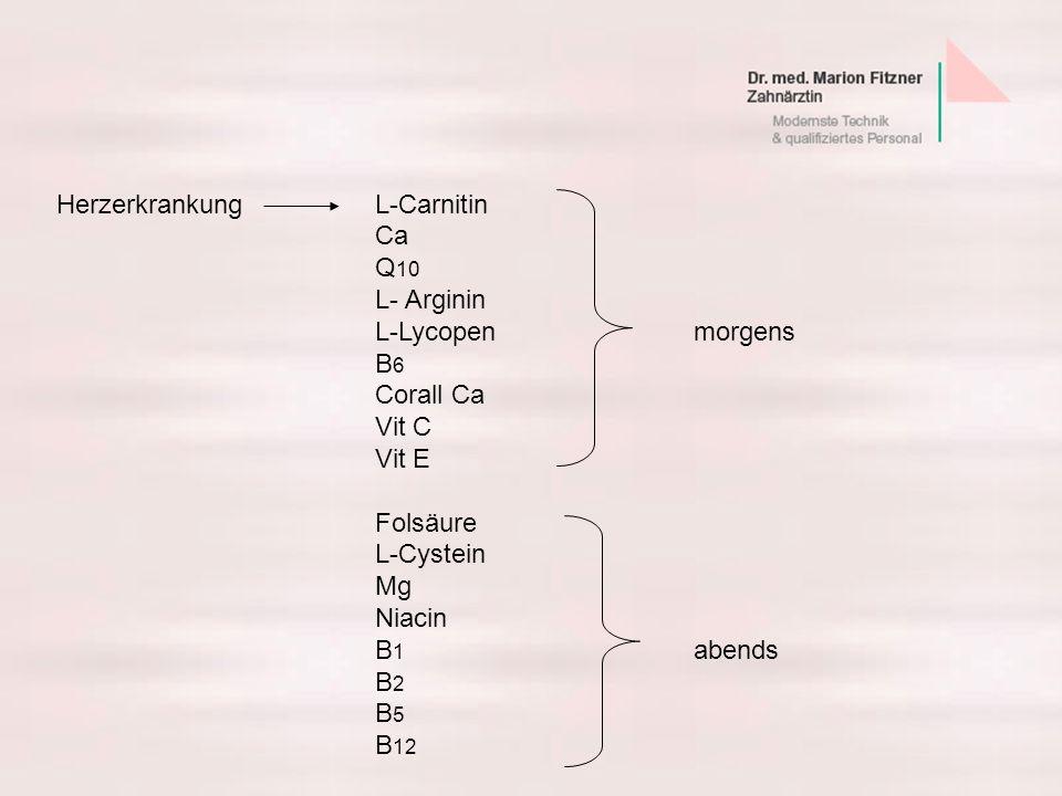 Herzerkrankung L-Carnitin