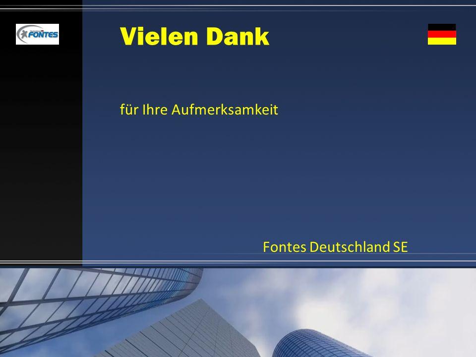 Vielen Dank für Ihre Aufmerksamkeit Fontes Deutschland SE