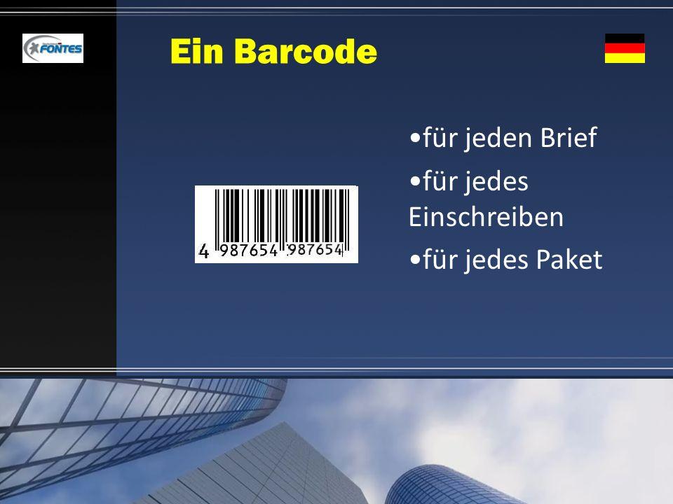 Ein Barcode für jeden Brief für jedes Einschreiben für jedes Paket