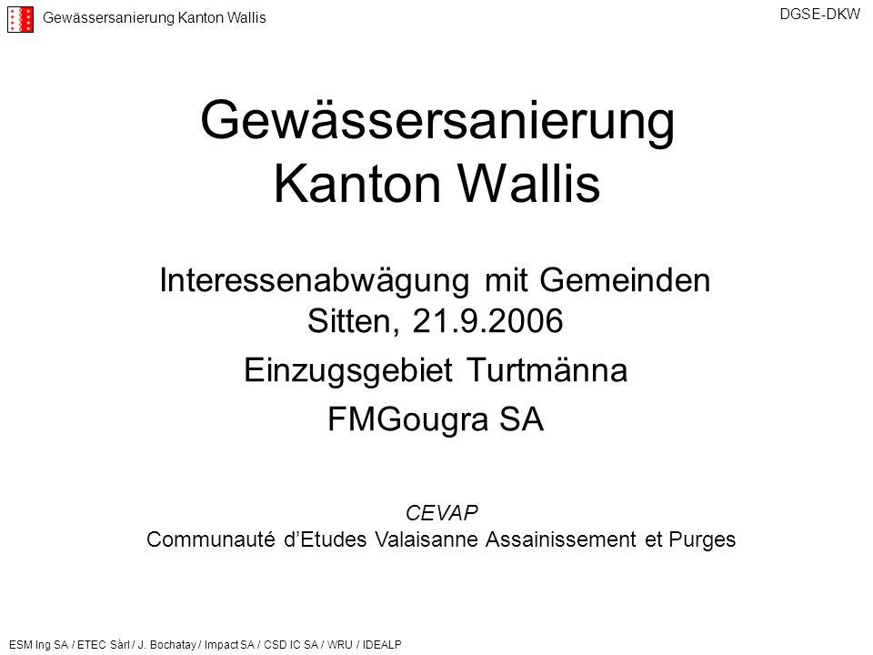 Gewässersanierung Kanton Wallis