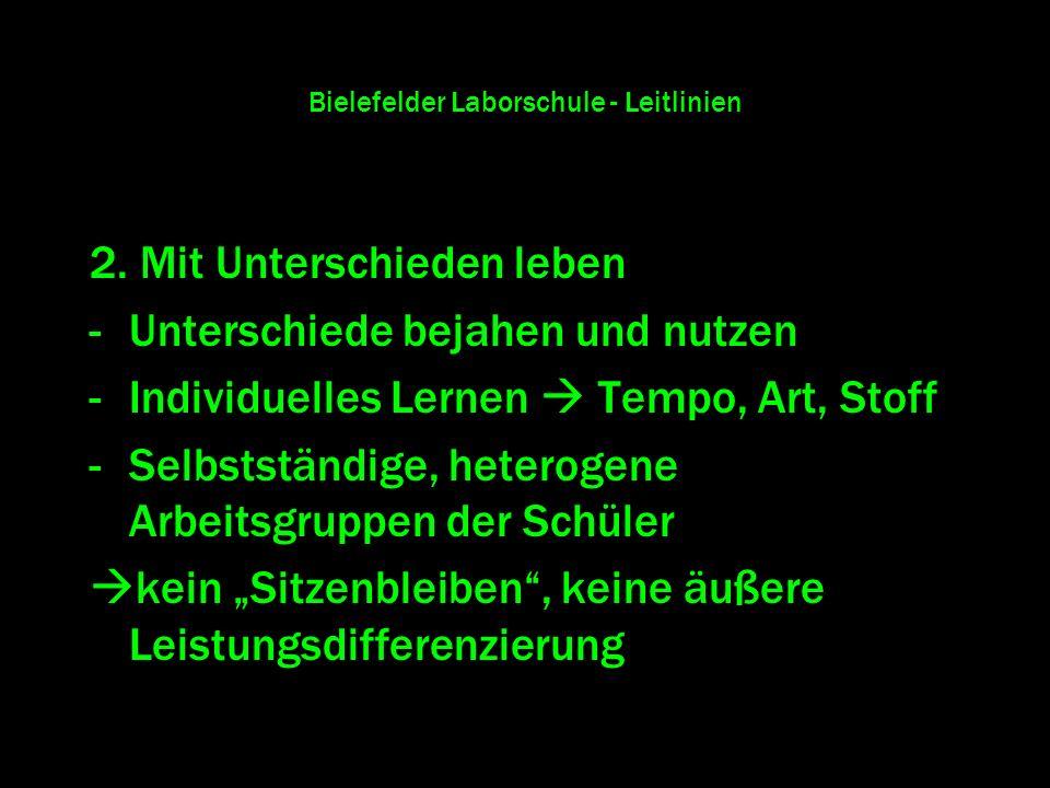 Bielefelder Laborschule - Leitlinien