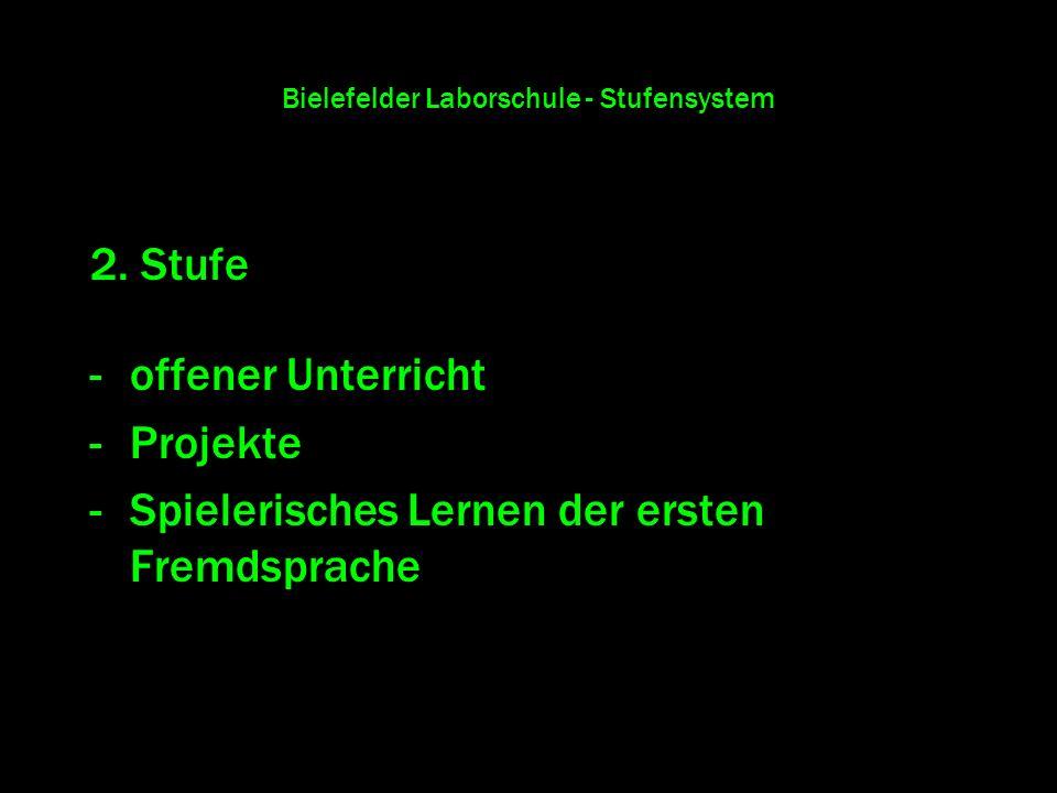 Bielefelder Laborschule - Stufensystem